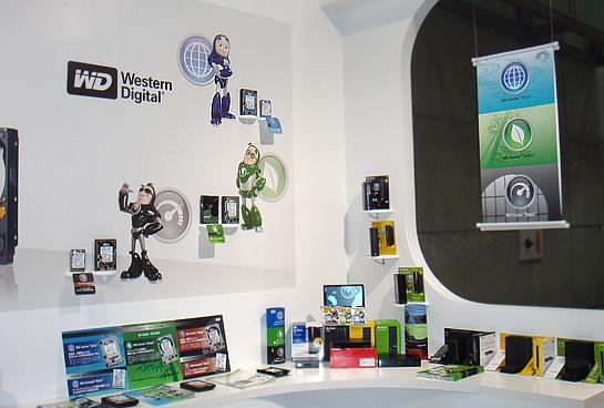 WesternDigital社の特設コーナー
